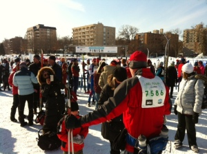 Finish Line in City of Lakes Loppet
